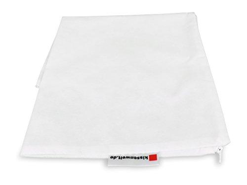 Kissenbezug 20x20cm VLIES Weiss, Kissenhülle mit Reißverschluss