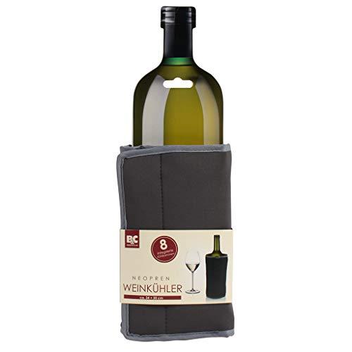 Durandal Neopren Weinkühler 34x20 | Sektkübel & Champagnerkühler mit Manschette | Kühlbehälter für alle Getränke | Flaschenkühler auch für unterwegs