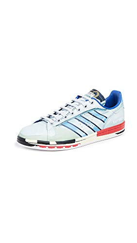 adidas Women's RAF Simons Micro Stan Sneakers, Silver Multi/Red/Red, 8.5 Medium US