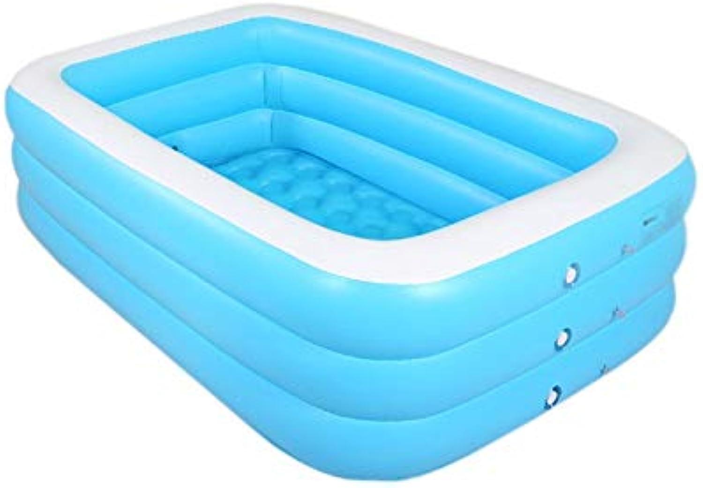 Tragbare aufblasbare Badewanne, Aufblasbare Pools für Kinder Einfach zu reinigen Badewanne Baby Aufblasbare Badewanne Reise Aufblasbare Badewanne (Farbe   Blau, gre   50CM)