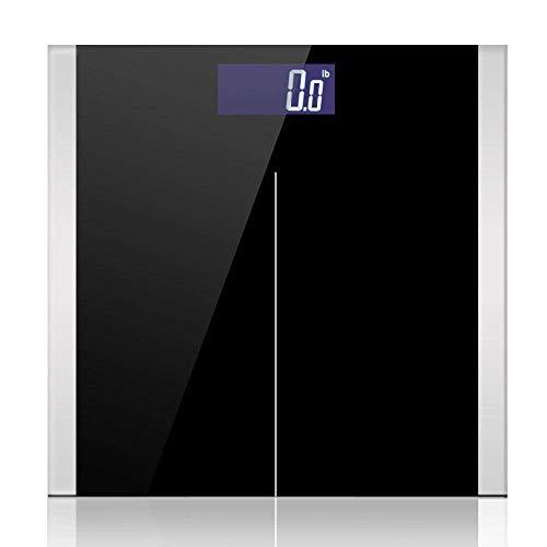 LQH Waage Bad Bodenwaage, LCD elektronisches Glas Digital-Körper-Skala, Gewicht Gleichgewicht, 180Kg, Schwarz