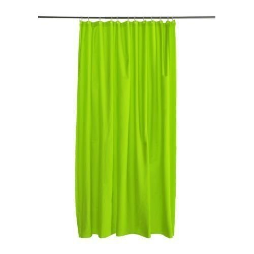 Best-mall New Solid Water Repellant Bathroom Shower Curtain Liner Clear (Lime Green)