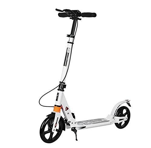 Wtbew-u Scooters adultos, Chicas de dos ruedas, Absorción de golpes, Plegable, Adultos, Adultos para trabajar, Mujeres urbanas, Freno de mano, No eléctrico