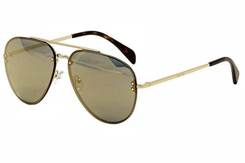 Céline Unisex J5G 60MV Sonnenbrille, Gold/Bronze Spiegel, Einheitsgröße