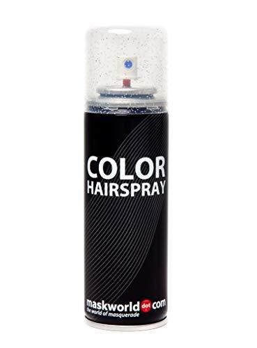 Maskworld Color Glitter Haarspray für farbig buntes Haar - Silber - Glitzer Color Farbspray zum Verkleiden & Schminken für Karneval, Fasching, Halloween & Motto-Party