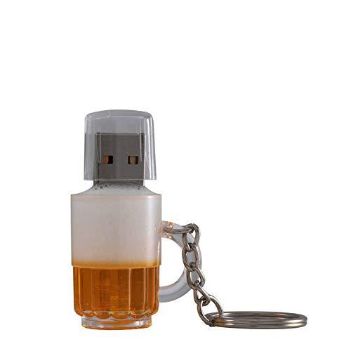 Pendrive Memory Stick Flash Drive Forma di boccale di birra Creativo Alta velocità Compleanno I regali USB2.0 4GB/8GB/16GB/32GB/64GB/128GB Archiviazione dei dati (128GB)