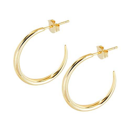 Brandlinger ® Atelier Creole Gold aus vergoldetem 925 Sterling Silber. Ohrringe Gold und Durchmesser 23 mm