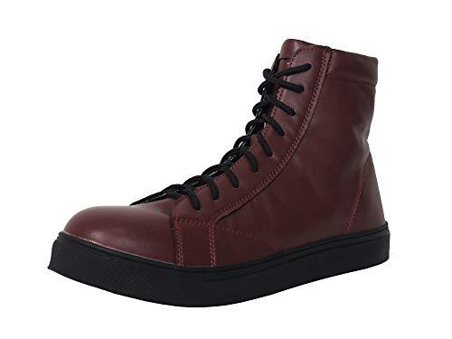 (チャーリーワークス)Charlie works チャーリー安全靴 CH001 メンズ レディース ブーツ ハイカット おしゃれ (ワインレッド, measurement_26_point_0_centimeters)