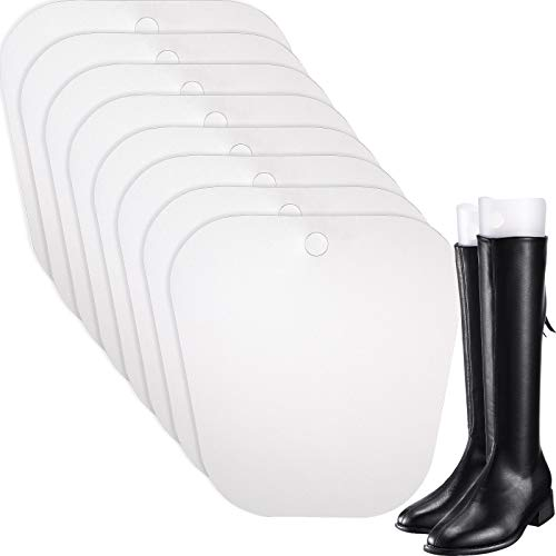 Bememo 8 Packungen Stiefelspanner Form Einsätze Hoch Stiefel Stütze für Damen und Männer (Transparent, 10 Zoll)