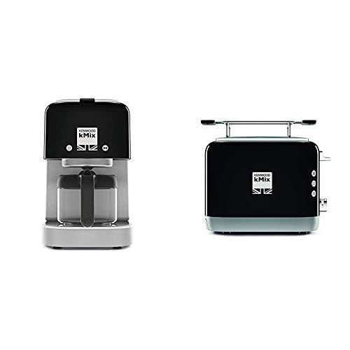 Kenwood kMix Kaffeemaschine COX750BK, schwarz, 1200 Watt, neue Serie, Filterkaffeemaschine, für 6 Tassen (750 ml) & kMix TCX751BK Toaste, 2-Schlitz-Toaster (900 W) schwarz
