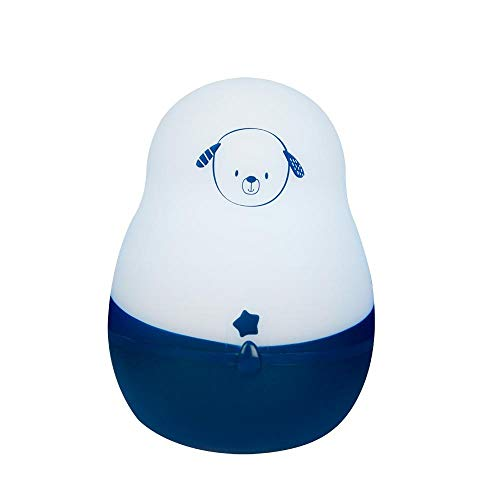 Veilleuse Portable pour Bébé et Enfant - Lumière Douce à LED - Lampe Super Nomade : 200 heures d'autonomie sans pile ni fil - Rechargeable sur Prise - Timoleo - Pabobo x Kid Sleep