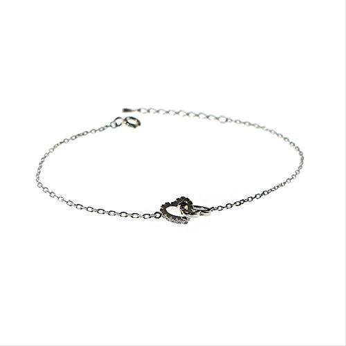 LFWQ hart naar hart zilveren armband zilveren liefdesarmband dames Sweet Hundred handgebonden hand ornamenten