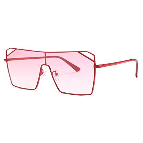 xzl Gafas de sol con marco de metal para mujer, ligeras, de gran tamaño, gafas de sol de aviador, protección UV, para conducir y pescar, E
