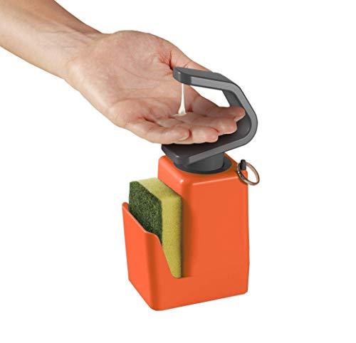 Metaltex Dispensador de jabón líquido, Naranja, 11x8x22 cm