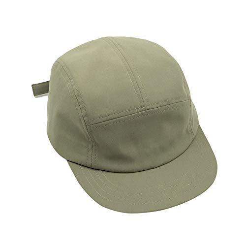 Croogo Cotton Men Women Cap Short Brim Hat Anti Sweat Sunscreen Trucker Baseball Hat Outdoor Sun Cap Green