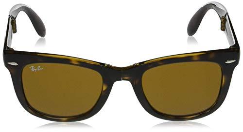 Ray-Ban RB4105 Wayfarer Folding Sunglasses, Light Tortoise/Brown, 50 mm