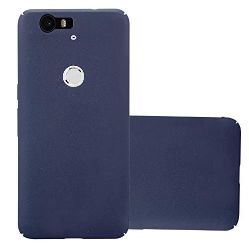 Cadorabo Hülle für Huawei Nexus 6P - Hülle in Frosty BLAU – Hardcase Handyhülle im matten Frosty Design - Schutzhülle Bumper Back Case Cover