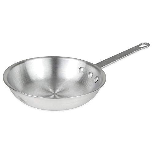 1 X 8-Inch Natural Finish Aluminum Frying Pan, Fry Pan, Saute Omelette Pan, Commercial Grade - NSF Certified