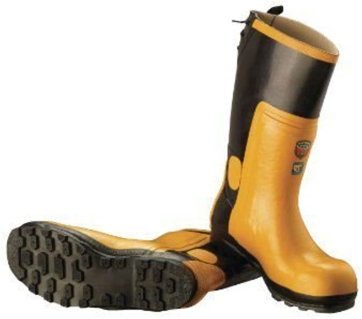 McCulloch CLO001 Predective Rubber Chainsaw Boots with Steel Toe Cap - Size 40
