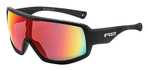 R&R Multi-Sportbrille Ultimate | Sonnenbrille | Radbrille | Skibrille | Laufbrille für Männer und Frauen (schwarz)