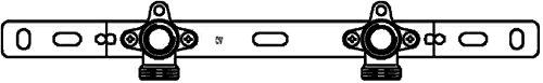 Oventrop cofit s support 3/4 x aG rp 1/2 100 mm-coudée