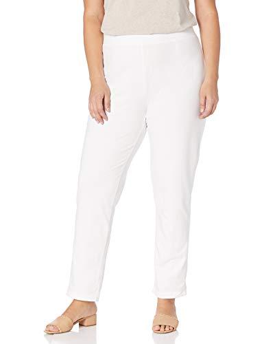 Neon Buddha Plus Size Women's Skinny Pant, White, 1X