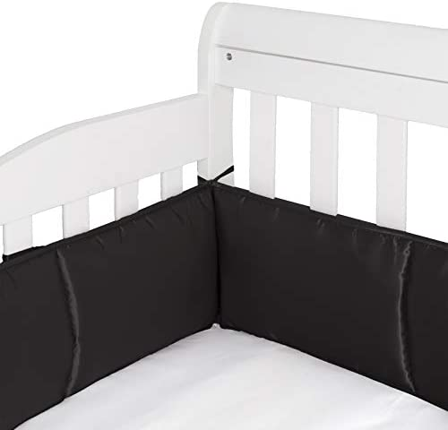 Pro Goleem 4 Piece Breathable Crib Liner Protector Satin Crib Safety Guard Pad with Thick Padding product image