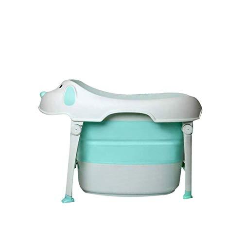 Baby Opvouwbare Badkuip Inklapbaar Draagbare Douchebak met Anti-slip Badmat, Grote Ruimte Zittend