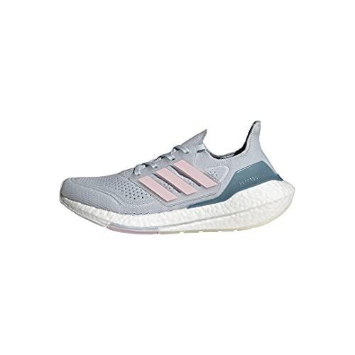 adidas Ultraboost 21, Zapatillas de Running Mujer, Halo Blue Fresh Candy Hazy Blue, 42 EU