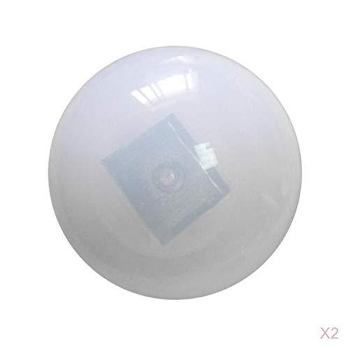 LOVIVER 2er Set Solar Schwimmkugel Wiederaufladbare Solor Weiß Beleuchtung LED Schwimmende Kugel