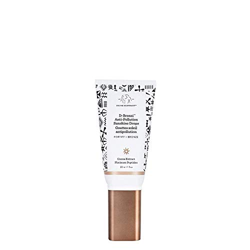 Drunk Elephant D-Bronzi Antipollution Sunshine Serum. Replenishing Face and Body Bronzing Serum for Fine Lines and Wrinkles (1 Ounce).