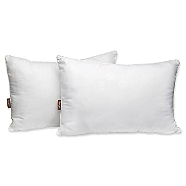 Panama Jack Luxury 2-Pack Embossed Microfiber Standard Pillows in White