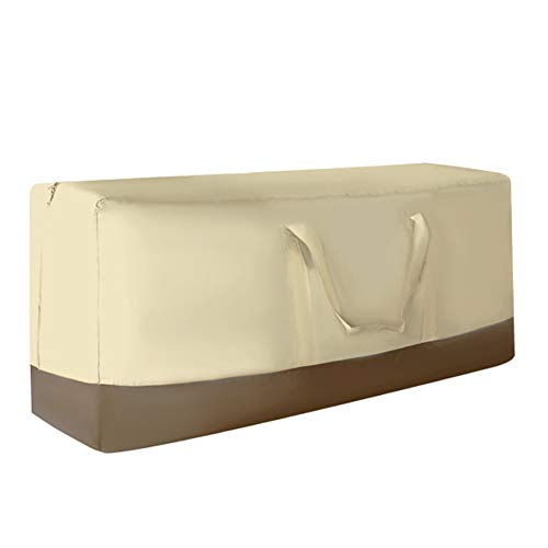 IYMSS Garden Furniture Cushion Storage Bag Heavy Duty Waterproof 600D Oxford Fabric Rectangle Furniture Seat Protector Cushion Cover with Zipper Christmas Tree Storage Bag,Beige,115x35x50cm