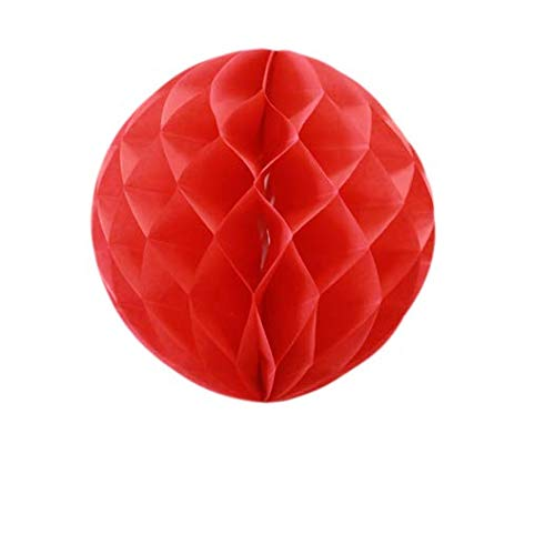 SKYLANTERN Boule Chinoise alvéolée 30 cm Rouge