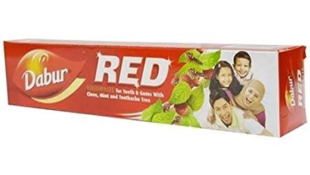 Dabur Red Ayurvedic Paste - Complete Dental Care - 200g+100g with free Binaca Tooth Brush worth Rs 2