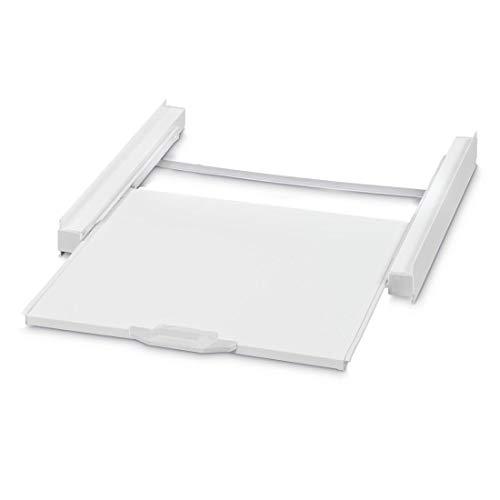 Xavax 111363 Kit di Impilamento Lavatrice/Asciugatrice con Pannello Scorrevole, Bianco