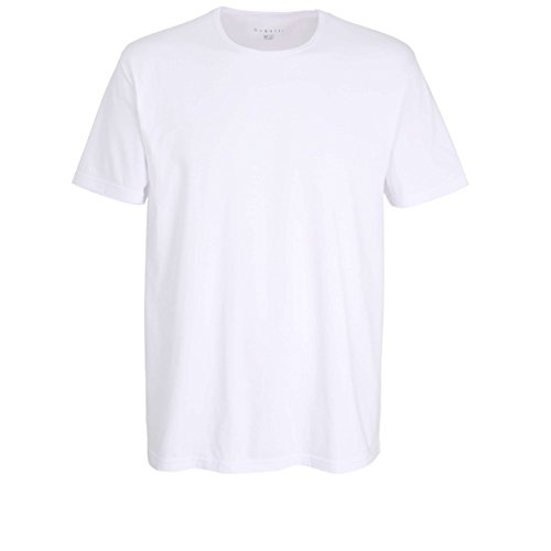 Bugatti Herren T-Shirt, Kurzarm, Baumwolle, Single Jersey, weiß, Uni, 2er Pack 7
