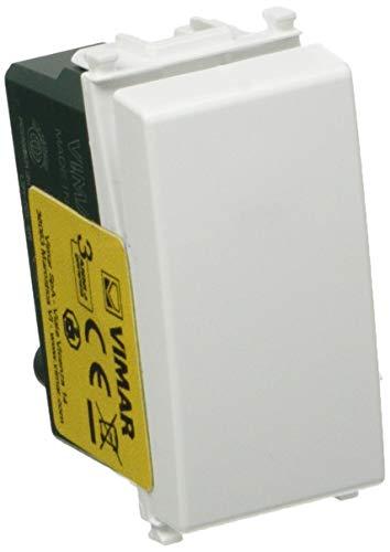 VIMAR 0R14008 Plana Pulsante 1P No 10 A 250 V, illuminabile (unità di Segnalazione Non fornita), Tasto sostituibile, 1 Pezzo, Bianco