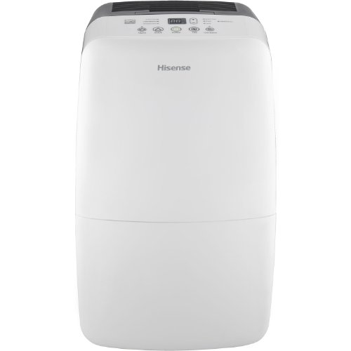 Hisense DH-70K1SDLE Energy Star 2-Speed Dehumidifier, 70-Pint, White