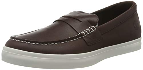 Timberland Herren Union Wharf Penny Loafer Slipper, Braun (Marrone (Red Brown) Tb0a262xd761), 43 EU
