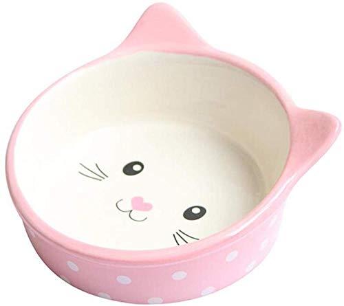 Comida Perros Gatos Tazón Para Comida Para Perros Suministros Para Mascotas Tazón De Cerámica Alimentador Para Gatos Tazón Para Comida Para Perros Mejores Regalos Últimos Modelos (color: Rosa)-rosado