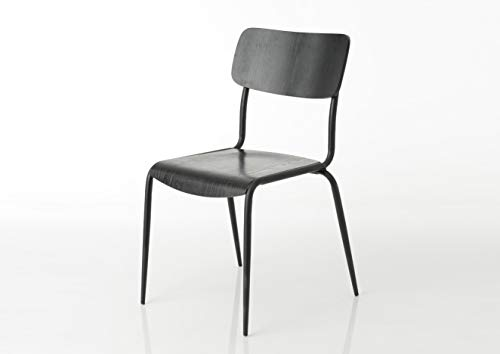 Amadeus - Chaise en Bois Noir Écolier