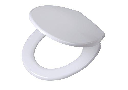 Tiger toiletbril Burton met automatische daling en Easy-Clean-functie, kleur: wit, eenvoudige montage van bovenaf