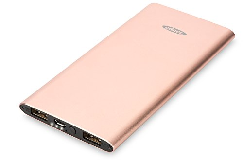 ednet Power Bank Aluminium, iPhone 6s Farben (silber, grau, gold, rose-gold) Kapazität: 5.000 mAh, 2 USB Ports 1x1A,1x 2,1A + Micro USB
