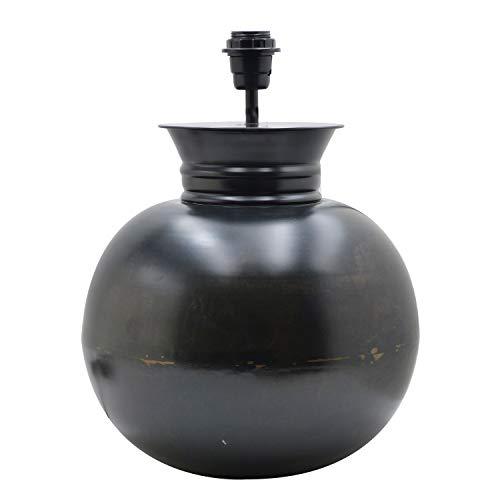 Lámpara de mesa bola acabado antic, color negra. Medidas: 32 x 32 x 42 centímetros. Material: metal (referencia: 3192425)