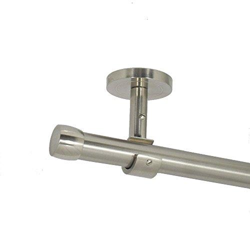 Deko-Team Gardinenstange Endkappe 20mm einläufig Deckenbefestigung (200 cm)