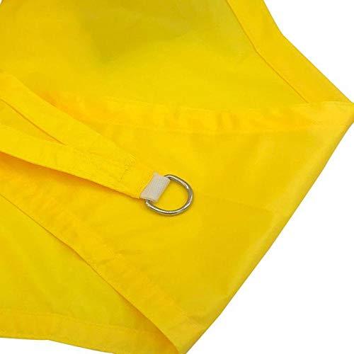 5 * 5 * 5m Dreiecksegel Segel, wasserdicht und UV-Schutz Schatten Netz-fluoreszierend gelb,Sonnensegel Sonnenschutz Garten Balkon und Terrasse