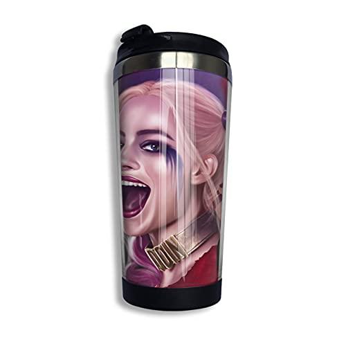 Harley Quinn Cup - Taza de café con aislamiento al vacío, diseño de doble capa, hecho de acero inoxidable 304, hermoso y práctico 400 ml