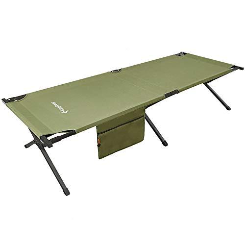 KingCamp (幅を広く) コット キャンプ 長さ205*幅75cm 折りたたみベッド アウトドア ワイド 野外 コンパク...