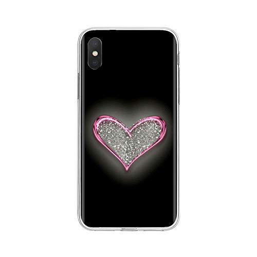 Fun-boutique para Bq Aquaris C U2 U V X2 X Lite Pro Plus E4.5 M4.5 X5 E5 4G M 2017 Love Golden Heart Glitter Carcasa de teléfono de silicona personalizada con imágenes 5-for Aquaris X